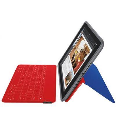 Logitech mobile device keyboard: 939-001235 - Blauw, Rood