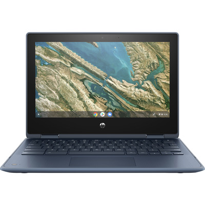 "HP Chromebook x360 11 G3 EE 11,6"" Touch Celeron 8GB RAM 64GB eMMC Laptop - Blauw"