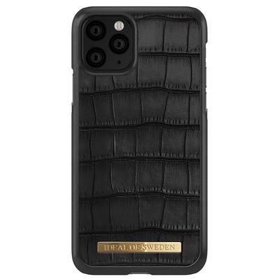 IDeal of Sweden Capri Backcover iPhone 11 Pro - Black Croco - Zwart / Black Mobile phone case