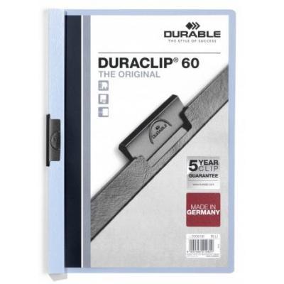 Durable Duraclip 60 Stofklepmap - Lichtblauw, Transparant