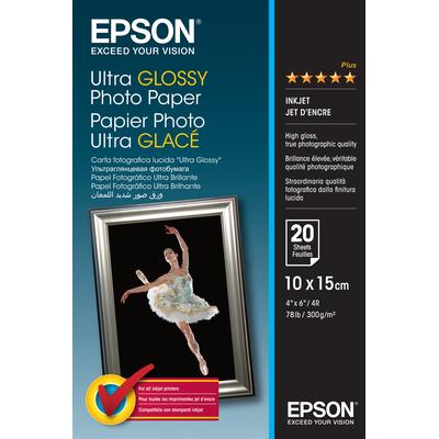 Epson Ultra Glossy Photo Paper - 10x15cm - 20 Vellen Fotopapier