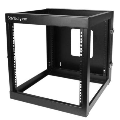 Startech.com rack: 12U 22inch Diep Scharnierend Open Frame Serverrack Wandmontage - Zwart
