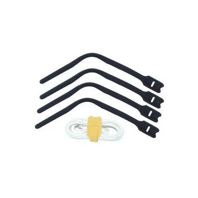 Lindy Hook and Loop Cable Tie, 300mm (10 pack) Kabelbinder - Zwart