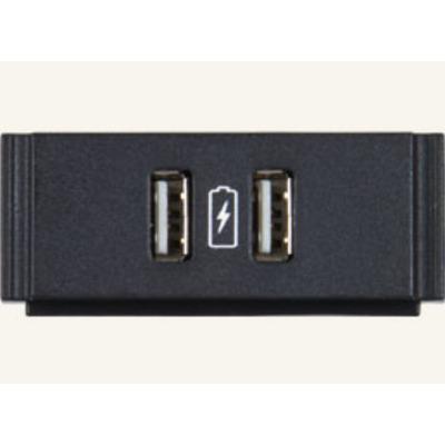 AMX HydraPort HPX-N102-USB-PC - outlet Inbouweenheid - Zwart