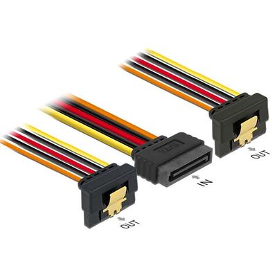 DeLOCK 60145 ATA kabel - Zwart, Oranje, Rood, Geel