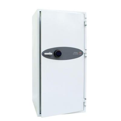 Phoenix kluis: 1630 x 775 x 650 mm, Fingerprint Lock, Alarm, 375 kg, White - Wit