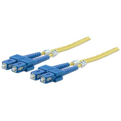 Intellinet Fibre Optic Patch Cable, Duplex, Single-Mode, SC/SC, 9/125 µm, OS2, 2m, LSZH, Yellow Fiber optic .....
