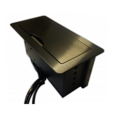 PTN-Electronics Geintregreerde PTN (8-voudig knoppenpaneel met 3x RS232, 2x IR, 2x Relay) - Zwart