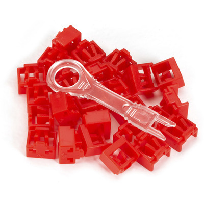 Black Box LockPORT Secure Port Locks, Red, 25-Pack, Red Patch panel accessoire - Rood