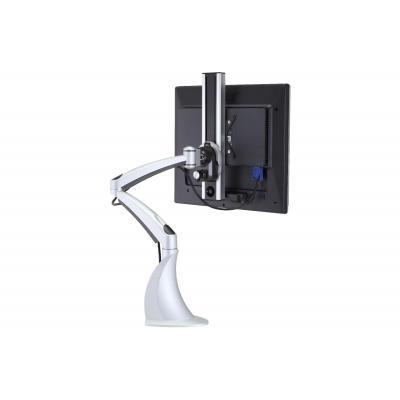 BakkerElkhuizen CA 7 Flatscreen Arm Clamp Monitorarm - Zilver