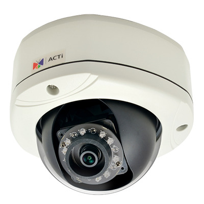 ACTi E76 Beveiligingscamera - Zwart, Wit