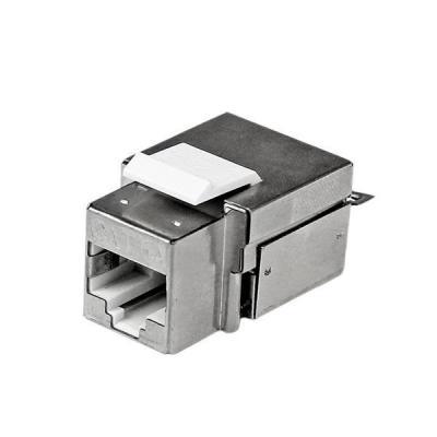 Startech.com kabel connector: Afgeschermde Cat 6a RJ45 Keystone jack-stekker wit 110 type