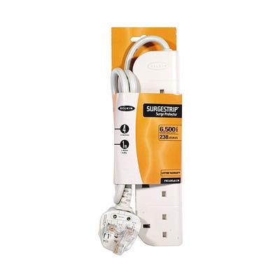 Belkin E-Series 4 Socket, 1-Metre SurgeStrip Surge protector - Wit