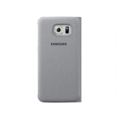 Samsung mobile phone case: Flip Wallet Canvas - Zilver