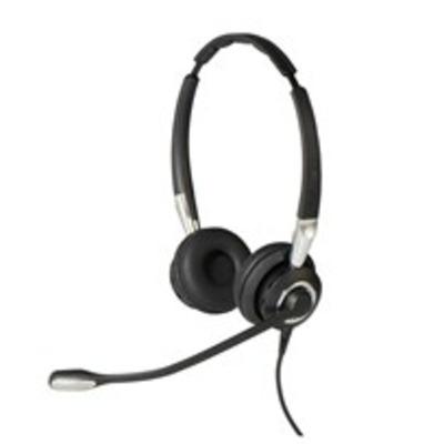 Jabra headset: Biz 2400 II QD Duo UNC - Zwart, Zilver