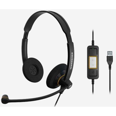 Sennheiser SC 60 USB ML Headset - Zwart