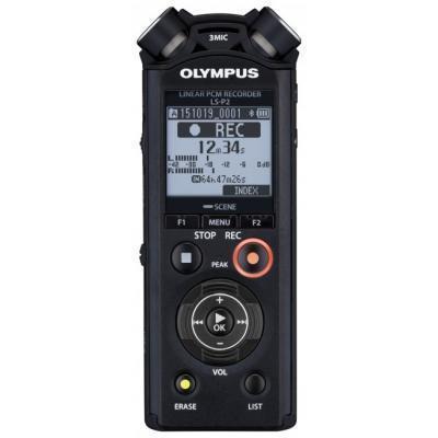 Olympus voice recorder: LS-P2 - Zwart