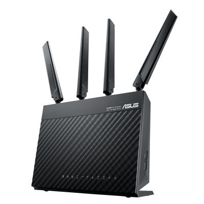 Asus wireless router: 4G-AC68U - Zwart