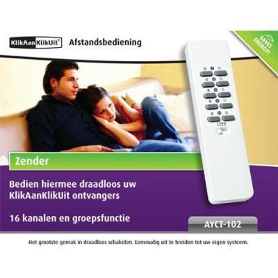 Klikaanklikuit afstandsbediening: AYCT-102, Afstandsbediening, Wit