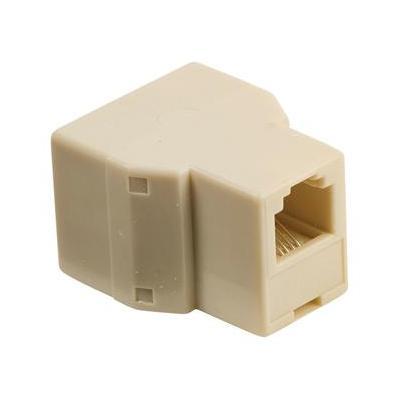 Valueline telefoon splitter: RJ11/2x RJ11 - Ivoor