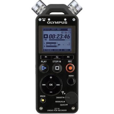 Olympus voice recorder: LS-14 - Zwart