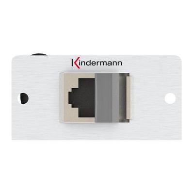 Kindermann 7444000425 Wandcontactdoos - Aluminium