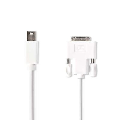 Nedis Mini-DisplayPort - DVI-kabel, Mini-DisplayPort male - DVI-D 24+1-pins male, 2,0 m, Wit