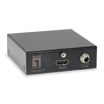 LevelOne HVE-9010 AV extender - Zwart