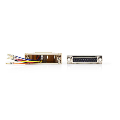 Nedis D-Sub-adapter, D-Sub 25-pins male - RJ45 (8P8C) female, Ivoor Kabel adapter