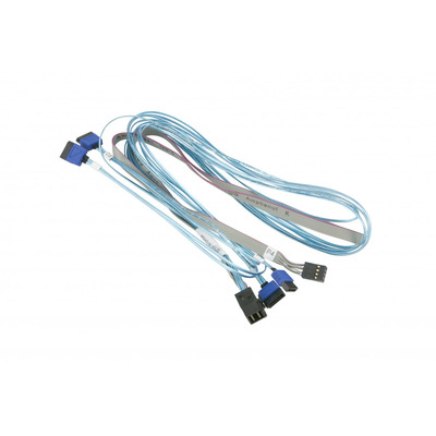 Supermicro CBL-SAST-0699 ATA kabel - Blauw, Grijs
