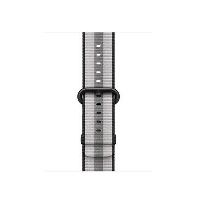 Apple : Bandje van geweven nylon - Zwart (gestreept, 38 mm) - Zwart, Grijs