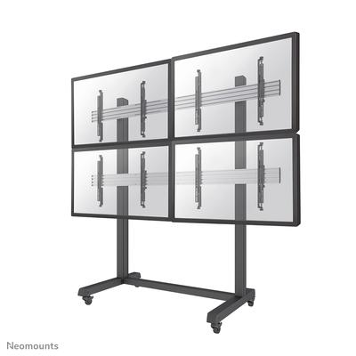 Neomounts by Newstar Pro videowall vloersteun TV standaard - Zwart