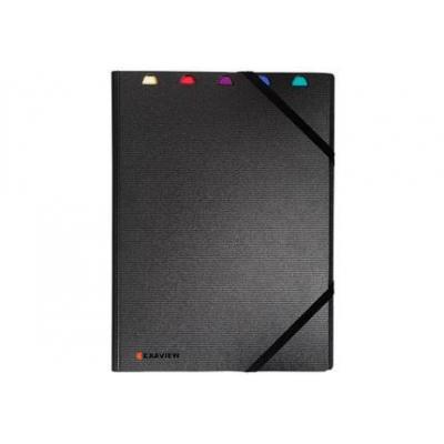 Exacompta : Exacompta, Exactive showalbum, gerecycleerde PP, A4, 40 tassen, zwart
