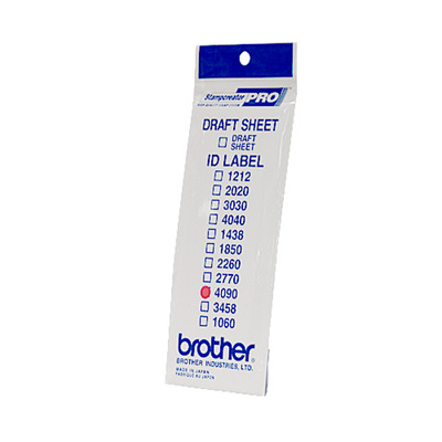Brother ID4090 LABEL SET (SIZE 40X90) 50 BAGS Etiket - Wit
