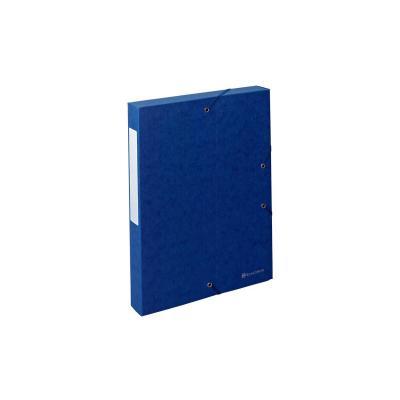 Exacompta archiefdoos: Archiefdoos Rug 40mm versterkt karton Scotten - Blauw