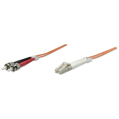 Intellinet 2m LC/ST, 50/125um Fiber optic kabel - Oranje