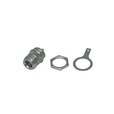 Valueline kabel connector: N-socket (solder type), bulkhead, Female - Zilver