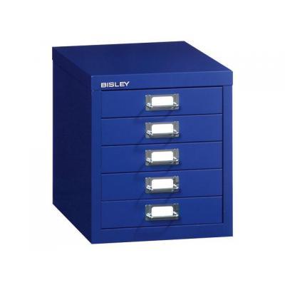 Bisley archiefkast: Meerladekast 5 laden donkerblauw