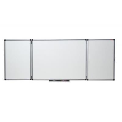 Nobo magnetisch bord: Inklapbaar, magnetisch, emaillen whiteboard van, afmeting: 1500 x 1200mm (ingeklapt) - Wit