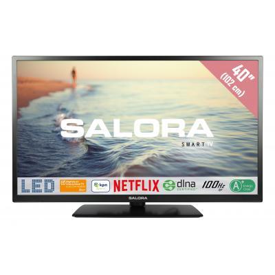 """Salora : Een 40"""" (102CM) Full HD SMART LED TV met Netflix, 100Hz bpr en USB mediaspeler - Zwart"""