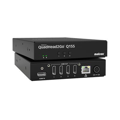 Matrox QuadHead2Go Q155 Multi-Monitor Controller Appliance / Q2G-H4K - Zwart