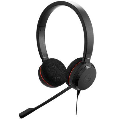 Jabra Evolve 20 UC Duo USB-C Headset - Zwart