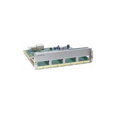 Cisco switchcompnent: Catalyst 4900M 4-port 10GbE half card with X2 interfaces, Spare - Zilver