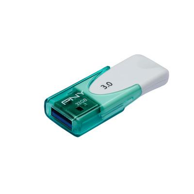 Pny USB flash drive: Attaché 4 3.0 32GB - Groen, Wit