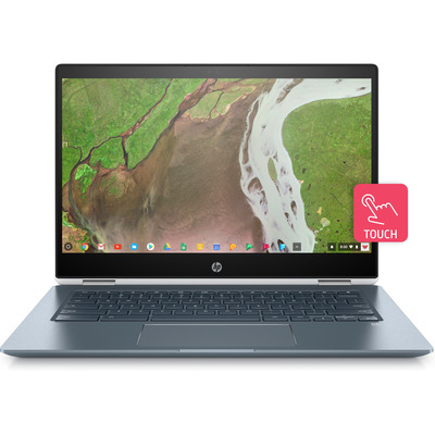 HP Chromebook x360 14-da0300nd Laptop - Blauw, Wit
