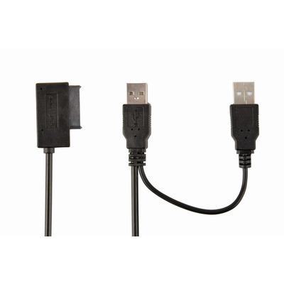 Gembird 2 x USB 2.0, 1 x SATA/SATA II, 1.5 Gbps Interfaceadapter - Zwart