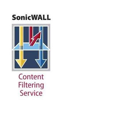 Dell software licentie: SonicWALL SonicWALL Content Filtering Service Premium Business Edition for TZ 205 - .....