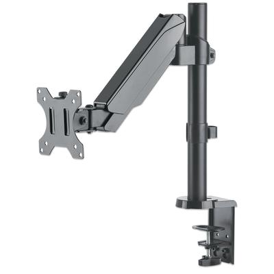 "Manhattan Monitor Desk Mount (clamp & grommet), 1 screen, 3 pivots, 10-32"", Vesa 75x75 to 100x100mm, Gas ....."