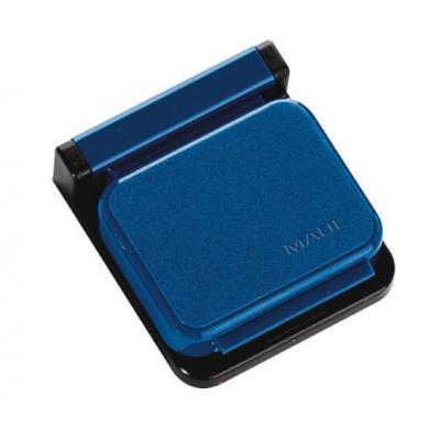 MAUL 36x36x40mm, Plastic, Black/Blue papierklem - Zwart, Blauw