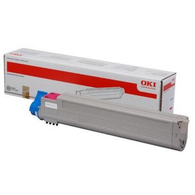 OKI cartridge: 43837130, Magenta toner, 22000p